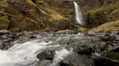 rega : Waterfall and creek in Iceland, wild nature