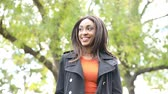 kurtka : Black woman portrait at park in Toronto
