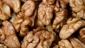 nut : Walnuts rotating top view