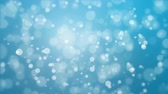dreamy : Illuminated glowing blue bokeh background with floating light particles. Stock Footage
