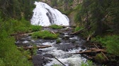 hydrology : Beautiful Virginia Cascades in Yellowstone National Park