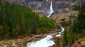 yoho : Twin Falls is set amidst the rugged cliffs of Canada