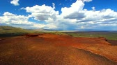 bizarro : Volcanic landscape at Craters of the Moon National Monument of Idaho Stock Footage
