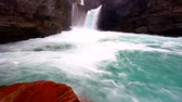 Saint Mary Falls in Glacier National Park Montana Stock Footage