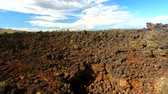 Landscape of Craters of the Moon National Monument in Idaho