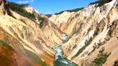 Grand Canyon of the Yellowstone River Stock Footage