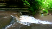 Giants Bathtub Cascade at Matthiessen State Park in central Illinois