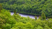 Lake of the Clouds at Porcupine Mountains State Park in northern Michigan Stock Footage