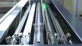carregamento : Knitting machine with a bank of needles video Stock Footage