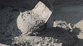 bricklayer : cement mixing in tray for bricklayer, HD 1920x1080 format Stock Footage