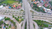 travel : aerial view of highways road