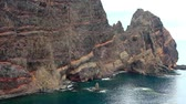 madeira : Rock in a sea and surf