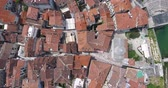 pannendak : Flight over the town of Kotor. Aerial view of Old Town Kotor Stockvideo
