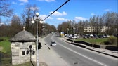 denominou : movement of cars on the avenue named 25 October in the city of Gatchina Leningrad region, Russia,