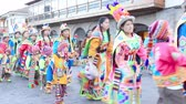 Cusco, Peru - May 13: Native people of Cusco dressed in colorful clothing in a religious celebration for Nuestra Senora de Fatima. May 13 2016, Cusco Peru.