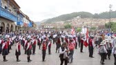 Children in Cusco for the Policia Escolar annual ceremony