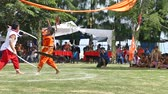 soldado : SURATTHANI THAILAND OCTOBER 08 2015 :Unidentified group Thai people  show thai sword fighting on October 08,2015 in SuratThani Thailand