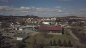 pays bas : Gorlice, Poland - 4 5 2019: Panorama of the historic center of the European medieval city on the picturesque green hills. Trips to architectural monuments, temples, quarters and sports complex MOSiR