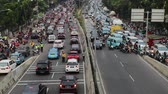 casablanca : JAKARTA, Indonesia. August 14, 2017: Video footage of rush hour traffic in Jakarta Casablanca road with crowded cars and motorcycle