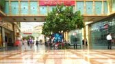 Singapore. October 30, 2017: Timelapse footage of crowded people in The Forum shopping mall at Sentosa Island Singapore Vidéos Libres De Droits