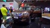kifinomult : Tangerang, Indonesia - August 08, 2018: New Nissan Terra car showed in Gaikindo Indonesia International Auto Show. Shot in 4k resolution