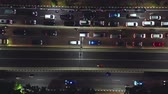 JAKARTA, Indonesia - October 23, 2018: Aerial view of crowded vehicles on the traffic jam at night in Casablanca street, Jakarta, Indonesia. Shot in 4k resolution Vidéos Libres De Droits