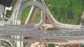 ring road : Top down view of Depok Antasari freeway interchange from a drone flying down. Shot in 4k resolution