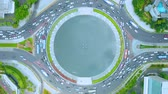 JAKARTA, Indonesia - January 28, 2020: Earth zoom in of Hotel Indonesia roundabout in Jakarta central business district Wideo