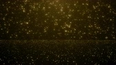 ghirlanda : Particles gold bokeh glitter awards dust abstract background loop