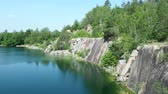 pedreira : Flooded rock quarry. Beautiful landscape of abandoned and flooded quarry. Czech Republic.