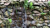 landscaping : Garden waterfall and stone wall