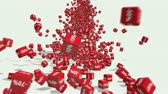 symbol : Falling red cubes with percent.   Discount concept. Stock Footage