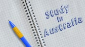 caligrafia : Study in Australia word animation