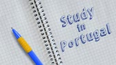 portugalia : Study in Portugal word animation Wideo