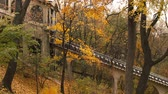 ahornbaum : Autumn. Upper funicular station in Kyiv. Ukraine.