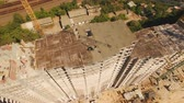 realtor : Aerial shot of workers in a construction, structure in the process to be build Stock Footage