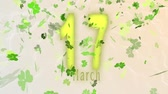трилистник : St. Patricks day clover leaf background, looped.
