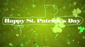 трилистник : Shamrock. St. Patricks Day green leaves background. Patrick Day backdrop with growing shamrock leaf extreme close-up. Patrick Day pub party.