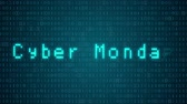 "понедельник : Seamless looping 3d animated futuristic motherboard with the animated text ""Cyber Monday"" Стоковые видеозаписи"