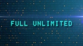 消費 : Unlimited, digital text animation