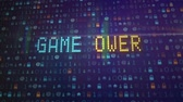 opções : The game is over, futuristic display. Digital computational animation
