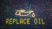 culpa : Color image of a cars oil icon lighting up on the dashboard. Vídeos