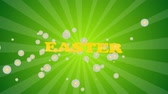 hare : Easter eggs border frame. Easter eggs rotating - seamless loopable colorful background animation. Stock Footage