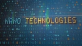 текстура : Futuristic titles with the text nano technology digital background