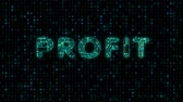 Profit, text with microprocessor computing texture, microprocessor background in text Wideo