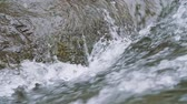 Water flow of Tama river, Filmed in slow motion, Tokyo, Japan