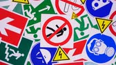 Safety signs and symbols. Health and safety signs and symbols in the workplace Wideo