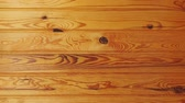 Background of wooden planks. Wood texture background Wideo