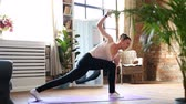 Yoga at home Stock Footage