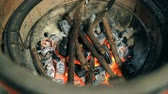 karakalem : Burning coals and sticks
